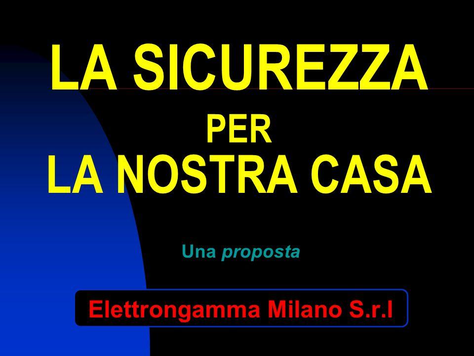 LA SICUREZZA PER LA NOSTRA CASA Una proposta Elettrongamma Milano S.r.l