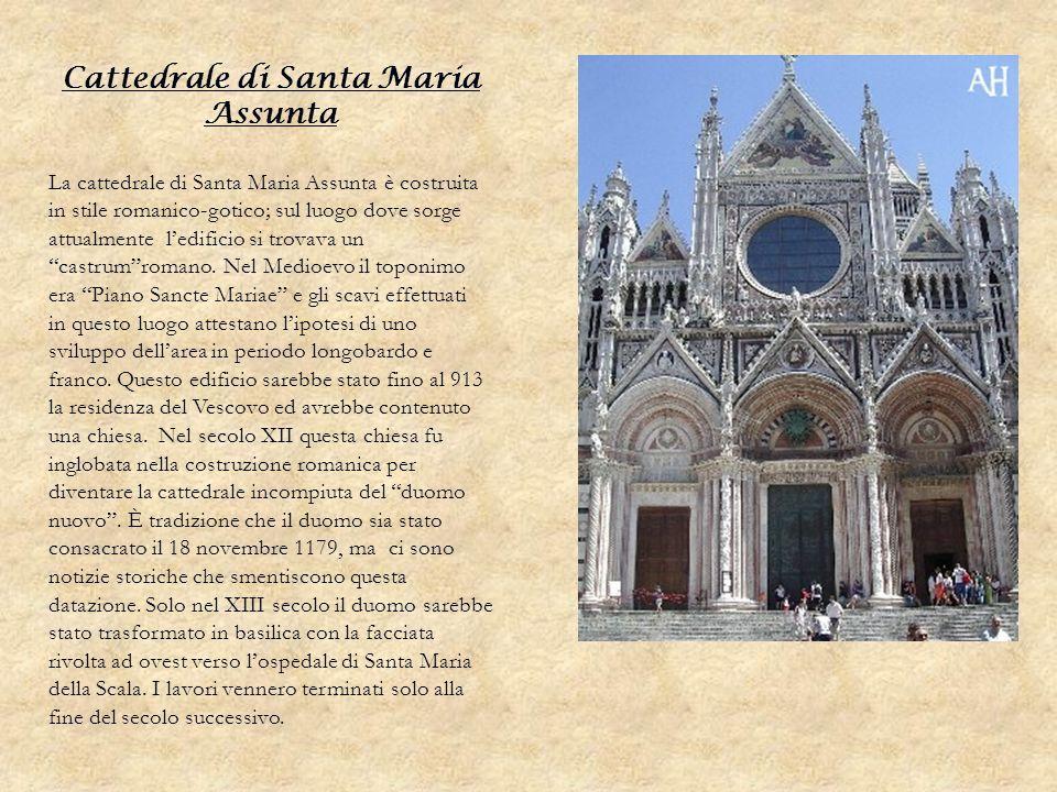 Cattedrale di Santa Maria Assunta La cattedrale di Santa Maria Assunta è costruita in stile romanico-gotico; sul luogo dove sorge attualmente ledifici