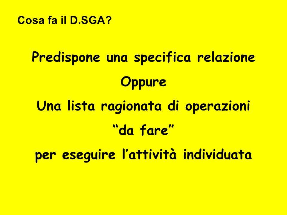 Cosa fa il D.SGA.