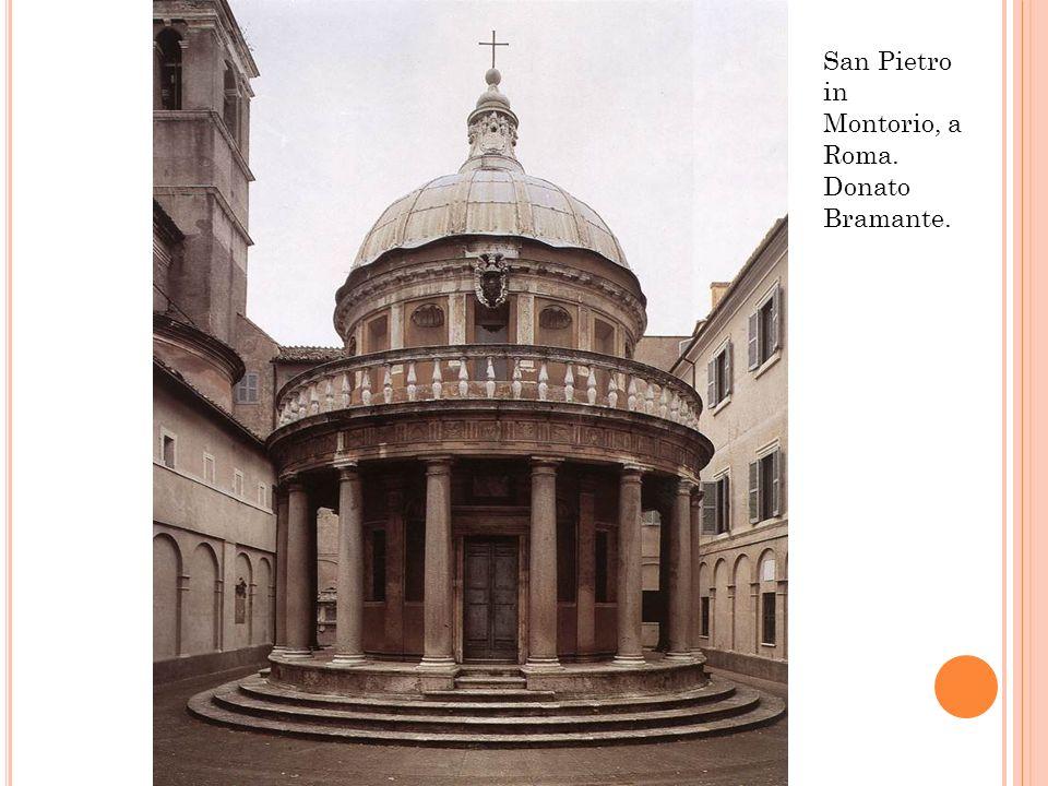 San Pietro in Montorio, a Roma. Donato Bramante.