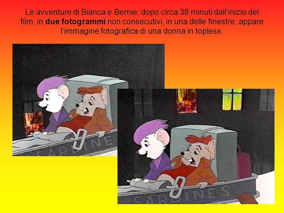 Le avventure di Bianca e Bernie: dopo circa 38 minuti dallinizio del film, in due fotogrammi non consecutivi, in una delle finestre, appare limmagine