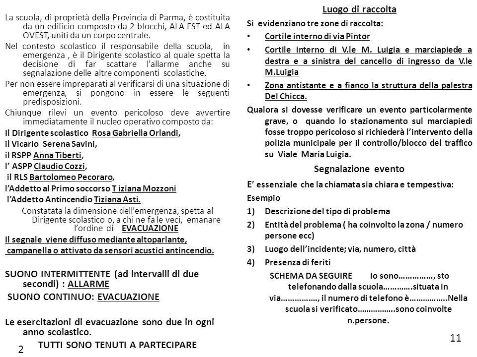 La scuola, di proprietà della Provincia di Parma, è costituita da un edificio composto da 2 blocchi, ALA EST ed ALA OVEST, uniti da un corpo centrale.