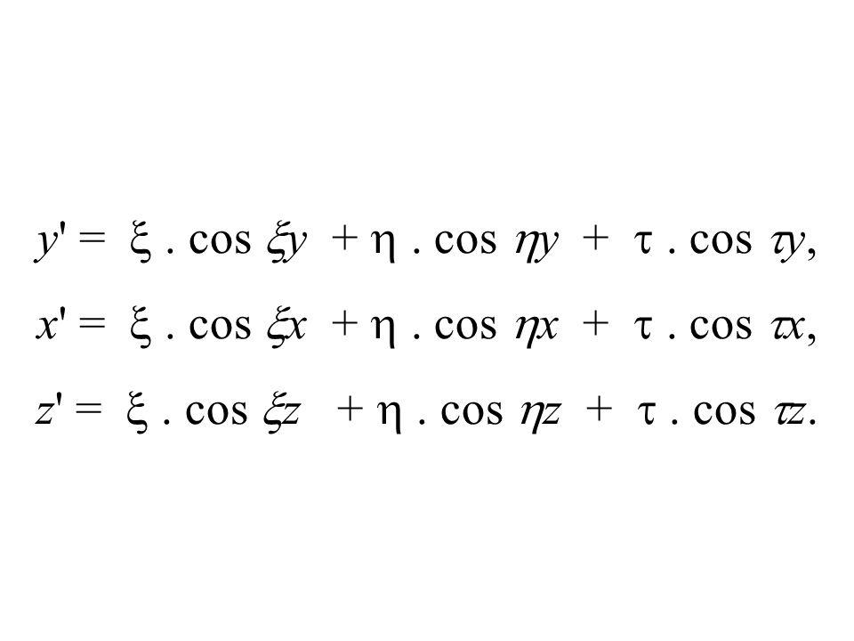 y' =. cos y +. cos y +. cos y, x' =. cos x +. cos x +. cos x, z' =. cos z +. cos z +. cos z.