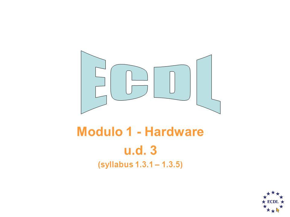 Modulo 1 - Hardware u.d. 3 (syllabus 1.3.1 – 1.3.5)