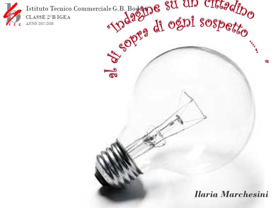 Ilaria Marchesini Istituto Tecnico Commerciale G.B. Bodoni CLASSE 2°B IGEA ANNO 2007/2008