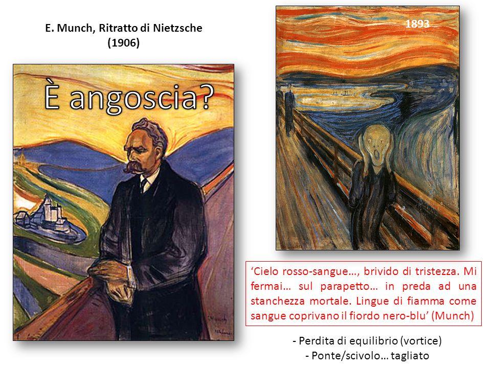 E. Munch, Ritratto di Nietzsche (1906) 1893-94 Disperazione