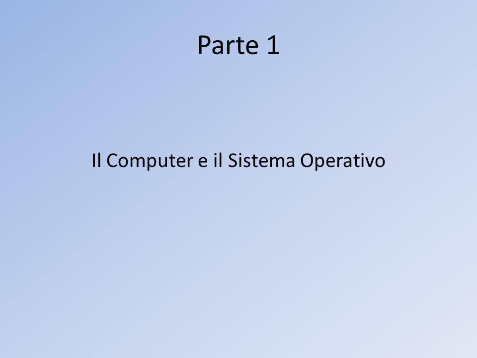 Parte 1 Il Computer e il Sistema Operativo