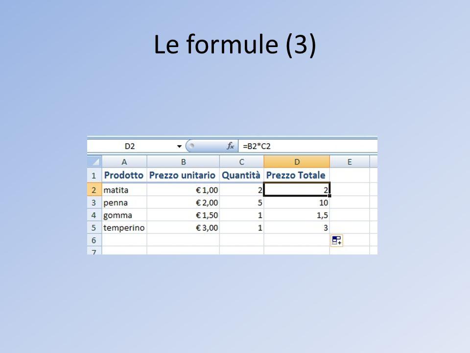 Le formule (3)