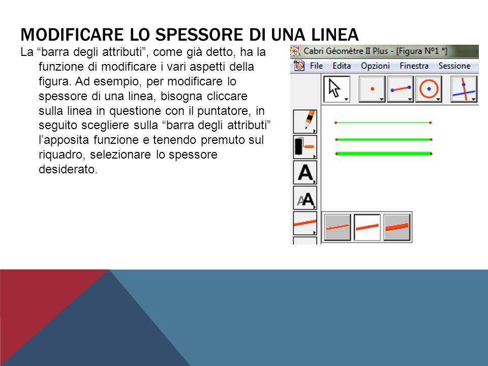 CREAZIONE DI UNA SEMIRETTA Nella barra superiore delle funzioni selezionare licona posta alla sinistra del riquadro adibito alla creazione del punto.