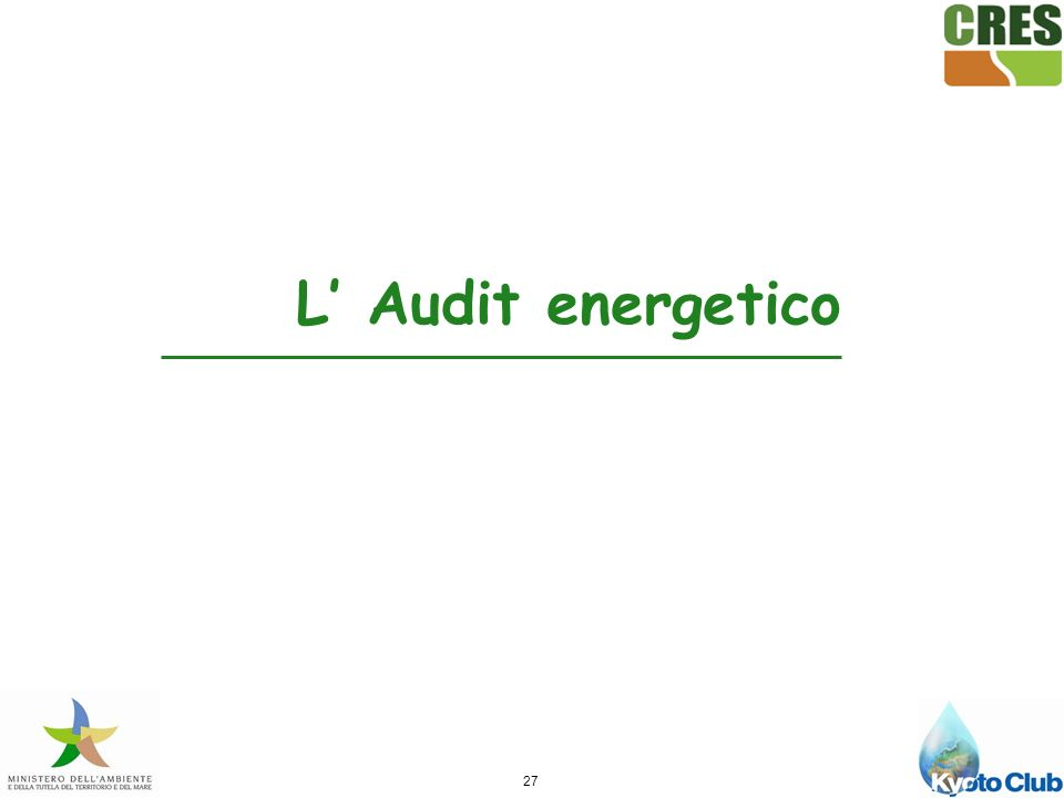 27 L Audit energetico