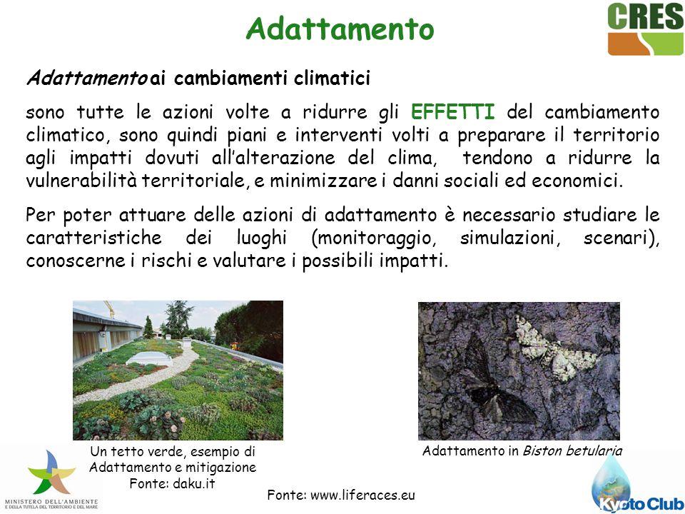 Mitigazione e Adattamento una azione integrata .