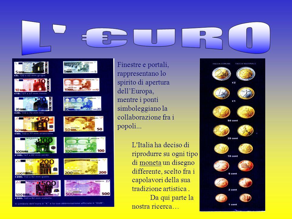 Finestre e portali, rappresentano lo spirito di apertura dellEuropa, mentre i ponti simboleggiano la collaborazione fra i popoli... L'Italia ha deciso