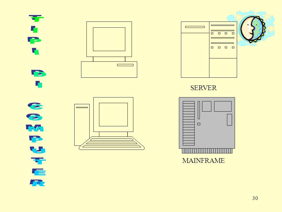 29 IL COMPUTER Lelaboratore elettronico, computer, è una macchina progettata per svolgere una determinata classe di funzioni, connessi a processi di elaborazione, in modo veloce, preciso e versatile.