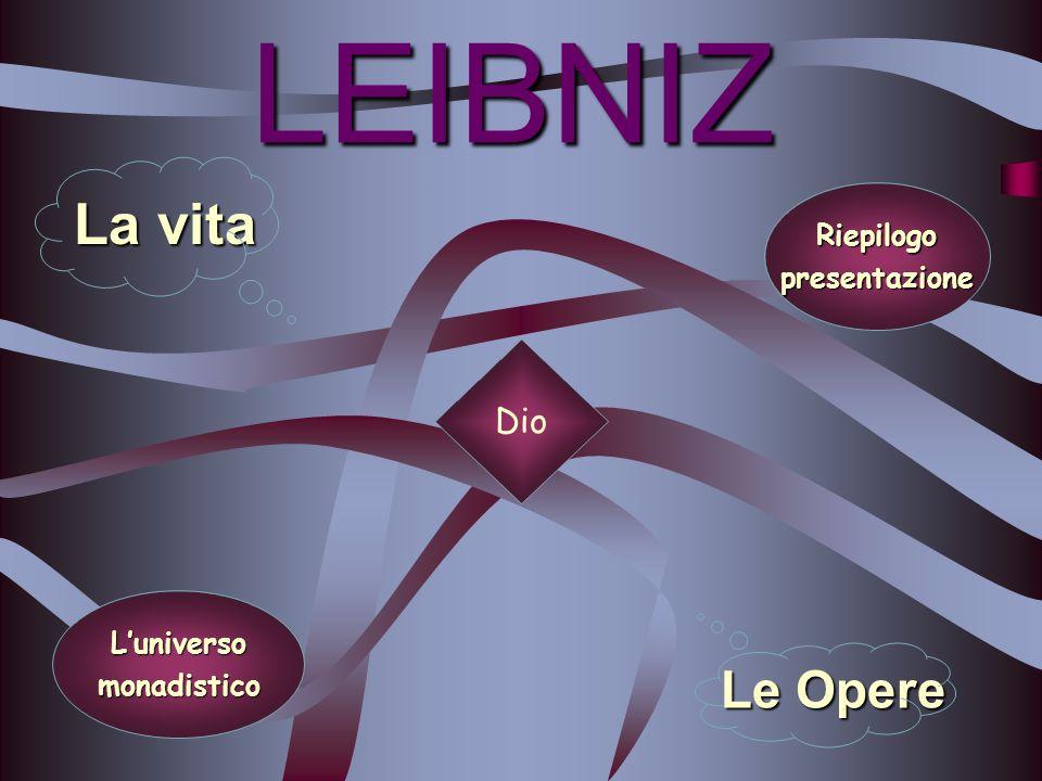 I rapporti tra le monadi Leibniz si pone il problema della comunicazione reciproca fra le monadi che costituiscono luniverso.