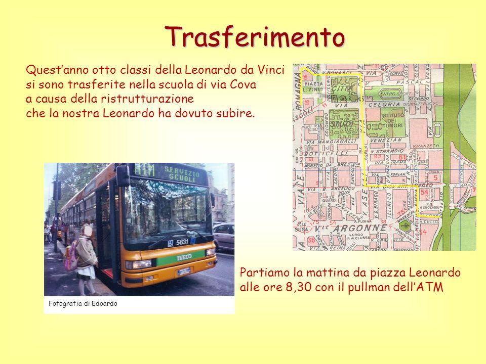 Trasferimento Questanno otto classi della Leonardo da Vinci si sono trasferite nella scuola di via Cova a causa della ristrutturazione che la nostra Leonardo ha dovuto subire.