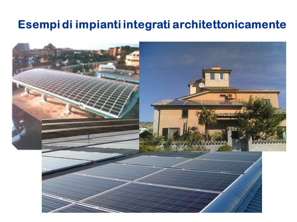 Esempi di impianti integrati architettonicamente