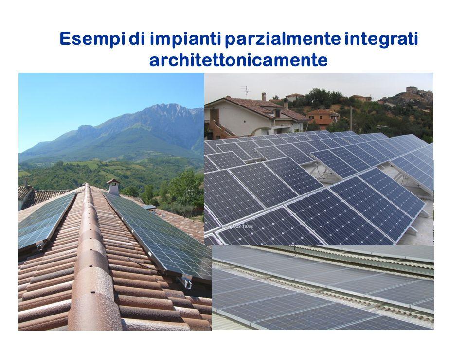 Esempi di impianti parzialmente integrati architettonicamente