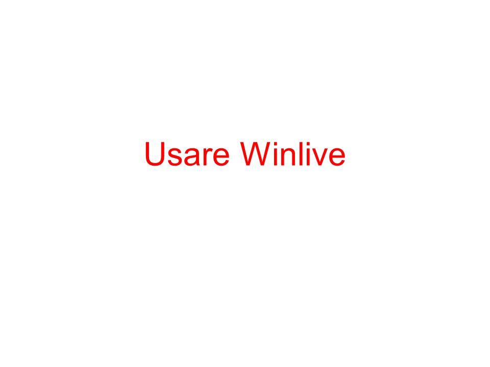 Usare Winlive
