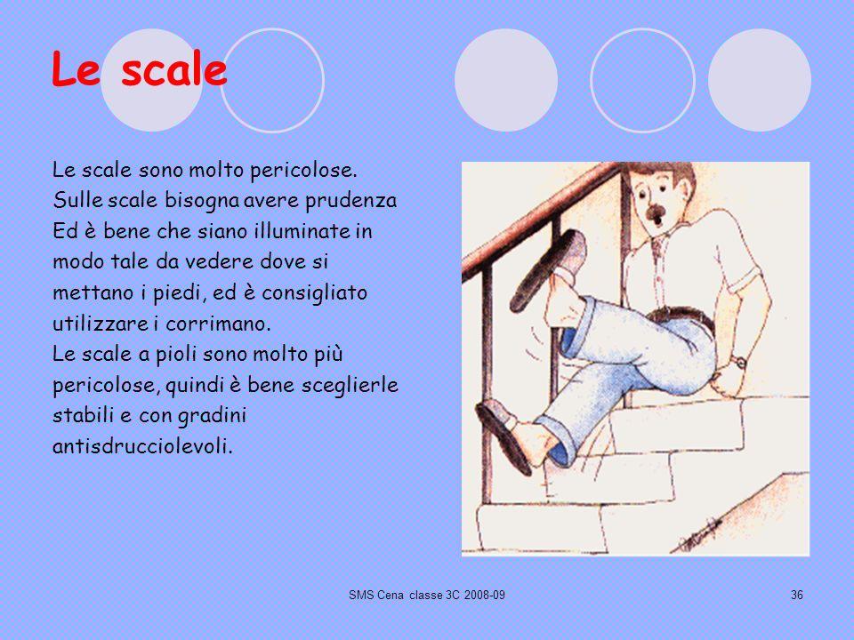 SMS Cena classe 3C 2008-0936 Le scale Le scale sono molto pericolose.