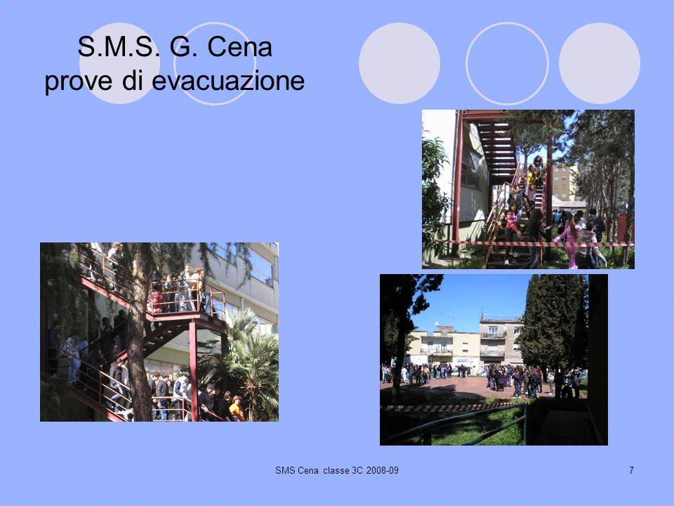 SMS Cena classe 3C 2008-097 S.M.S. G. Cena prove di evacuazione