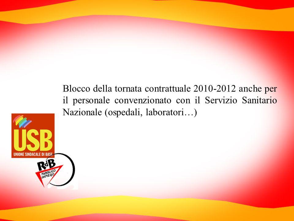 Blocco della tornata contrattuale 2010-2012 anche per il personale convenzionato con il Servizio Sanitario Nazionale (ospedali, laboratori…)