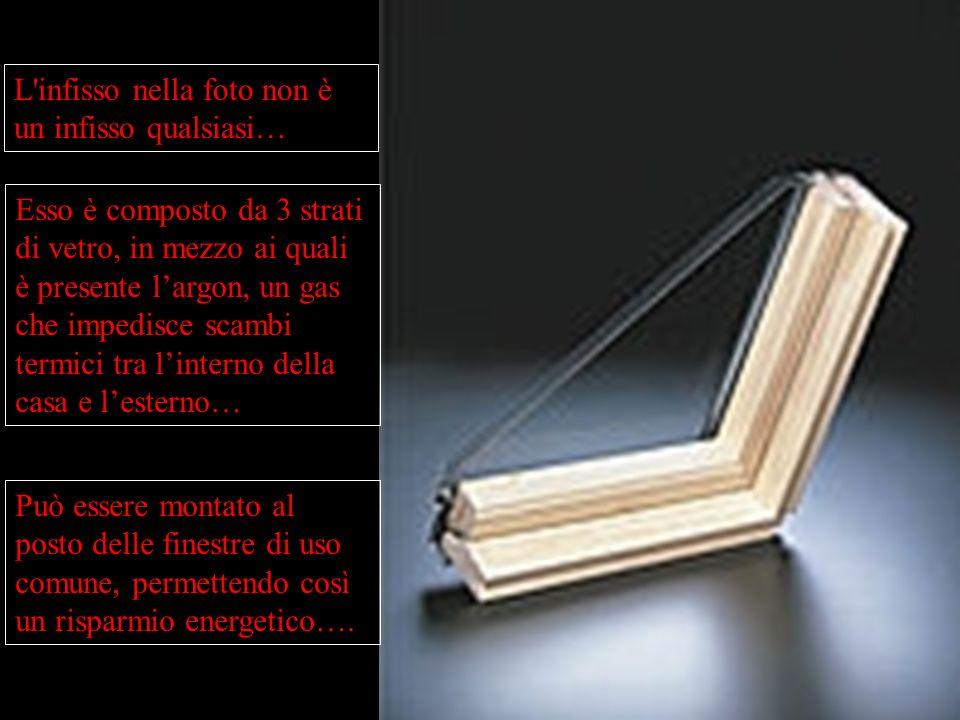 L'infisso nella foto non è un infisso qualsiasi… Esso è composto da 3 strati di vetro, in mezzo ai quali è presente largon, un gas che impedisce scamb