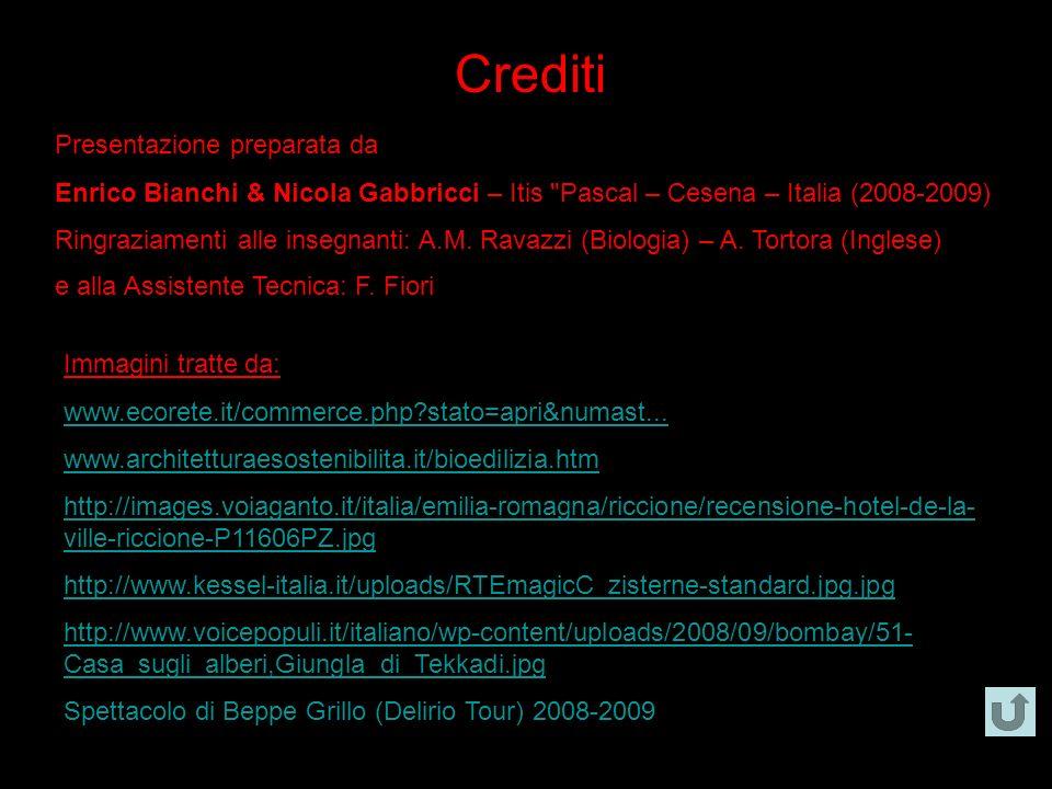 Crediti Presentazione preparata da Enrico Bianchi & Nicola Gabbricci – Itis