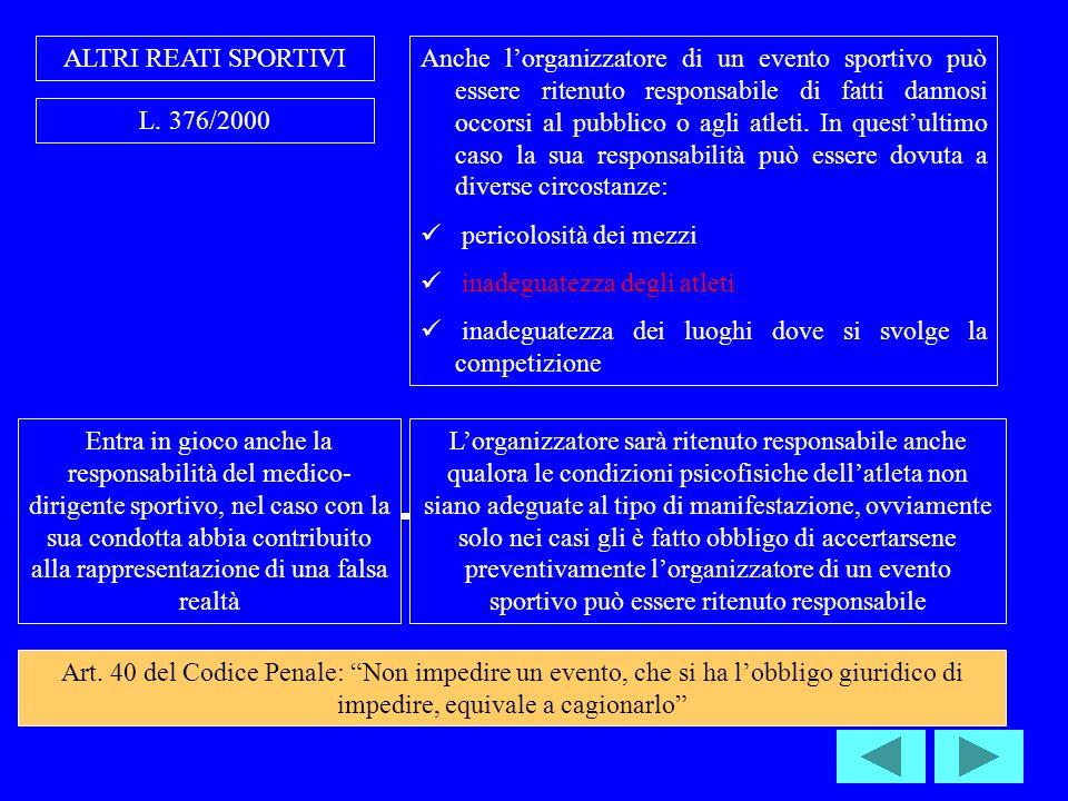 ALTRI REATI SPORTIVI L.