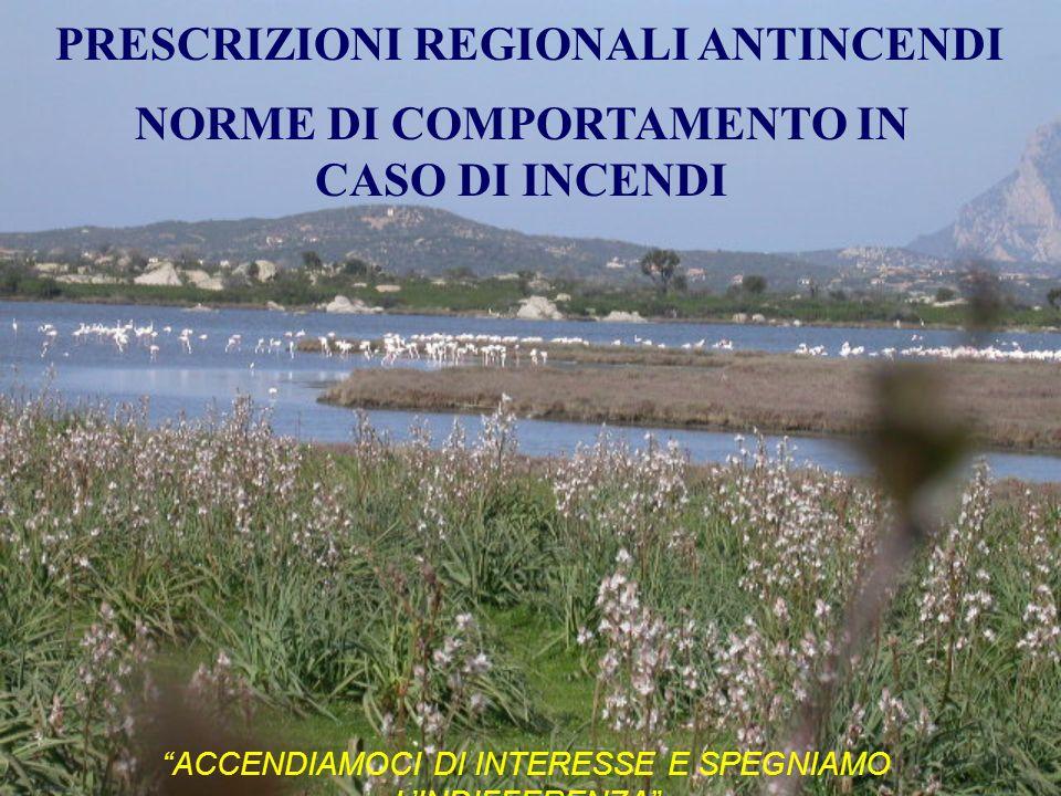 PRESCRIZIONI REGIONALI ANTINCENDI NORME DI COMPORTAMENTO IN CASO DI INCENDI ACCENDIAMOCI DI INTERESSE E SPEGNIAMO LINDIFFERENZA
