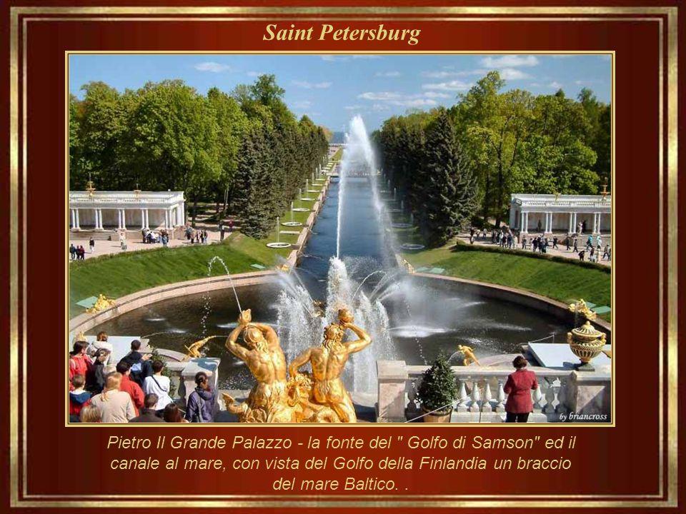 Saint Petersburg Pietro Il Grande, l'estate palazzo. Davvero è una serie di palazzi e giardini, costruita tra il 1714 ed il 1725