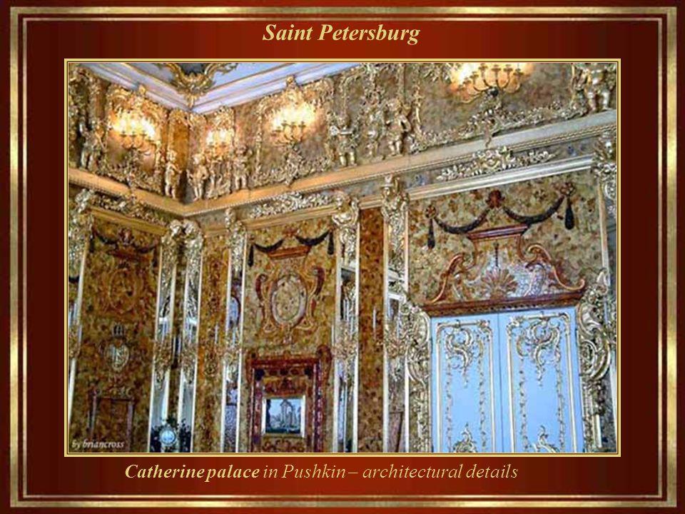 Saint Petersburg Il Catherine palazzo, in stile rococò. Era la residenza di estate degli zar russi, situato nel distretto di Tsarskove oggi noto come,