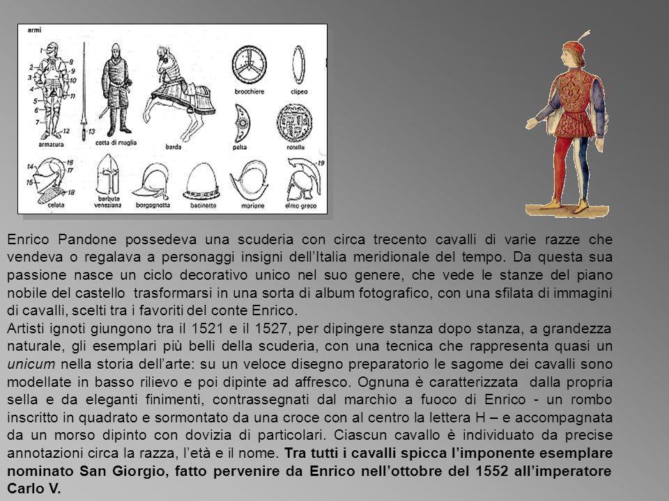 Enrico Pandone possedeva una scuderia con circa trecento cavalli di varie razze che vendeva o regalava a personaggi insigni dellItalia meridionale del