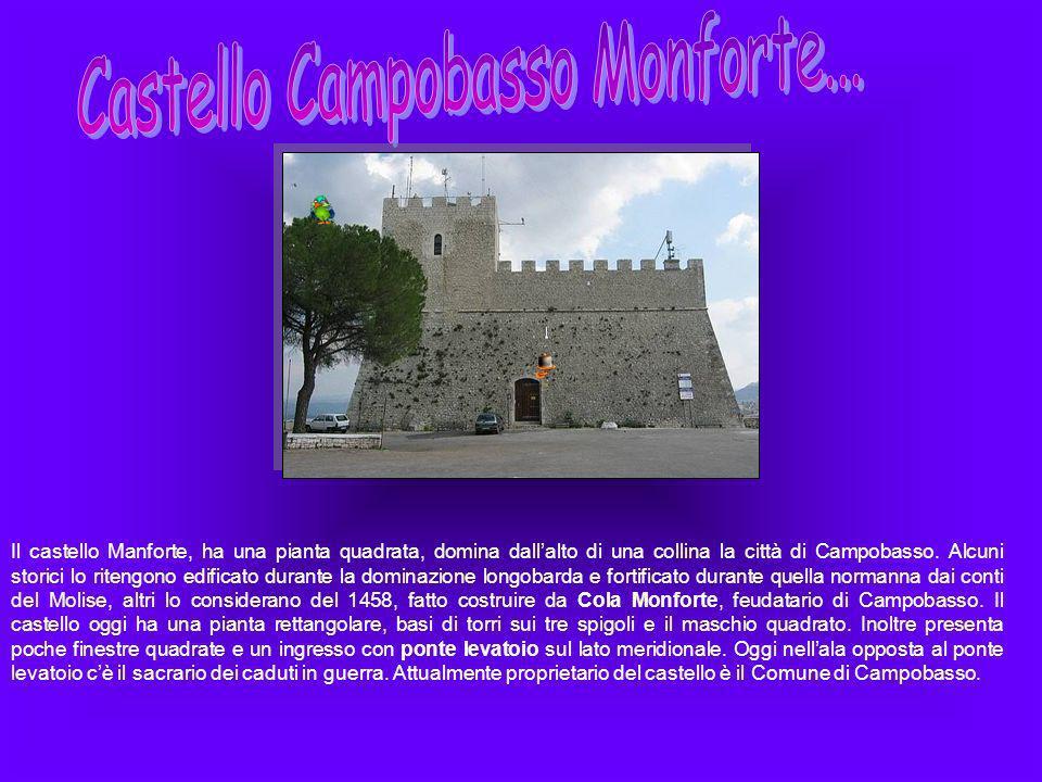 Il castello Manforte, ha una pianta quadrata, domina dallalto di una collina la città di Campobasso. Alcuni storici lo ritengono edificato durante la