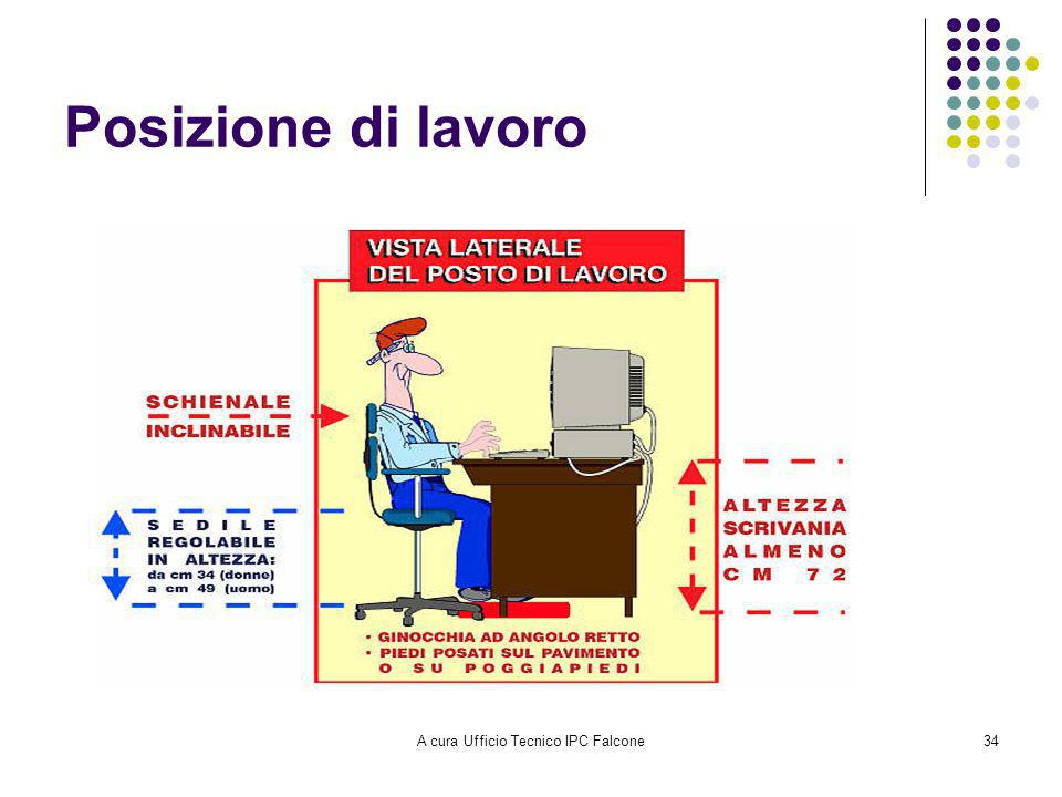 A cura Ufficio Tecnico IPC Falcone34 Posizione di lavoro