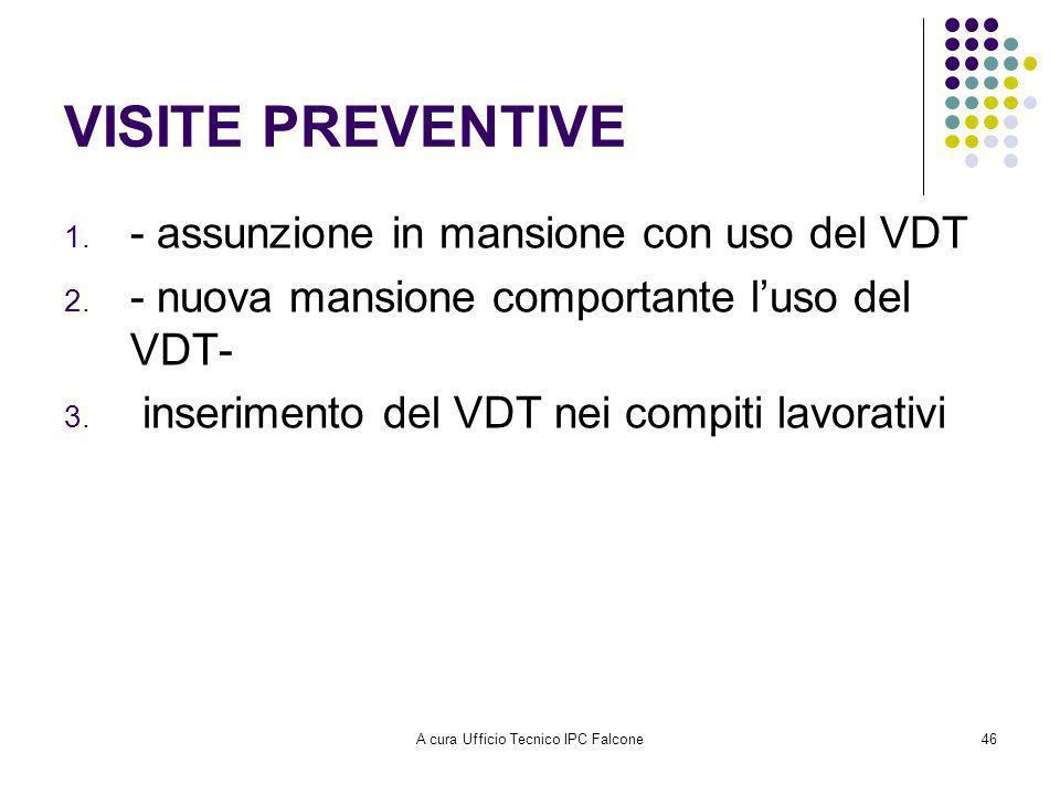 A cura Ufficio Tecnico IPC Falcone46 VISITE PREVENTIVE 1.