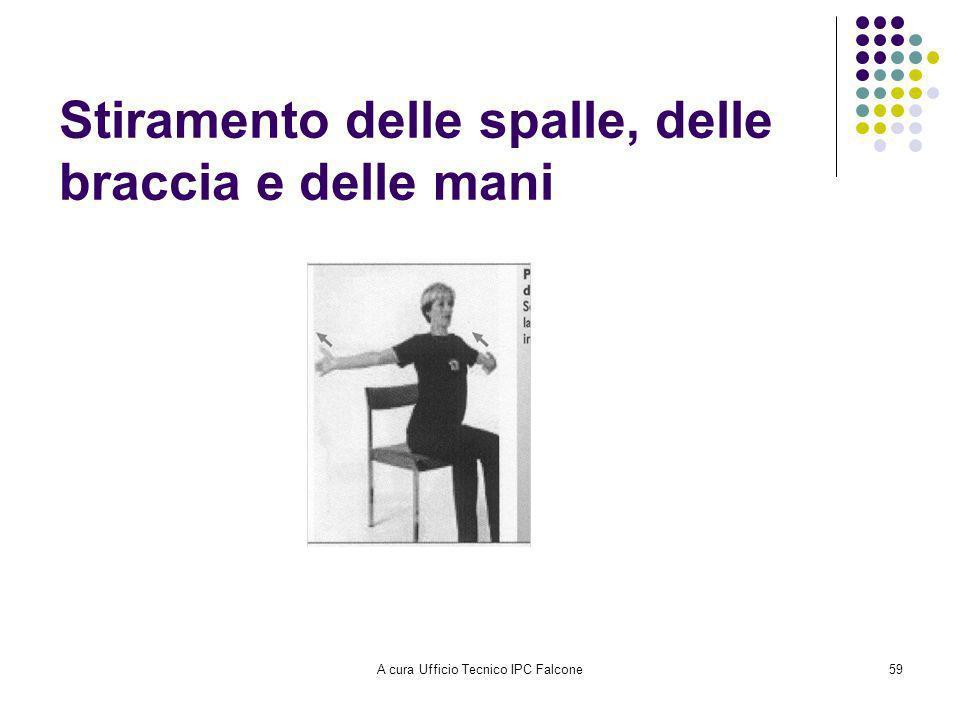 A cura Ufficio Tecnico IPC Falcone59 Stiramento delle spalle, delle braccia e delle mani