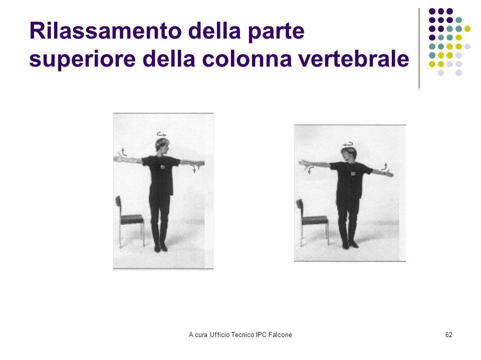 A cura Ufficio Tecnico IPC Falcone62 Rilassamento della parte superiore della colonna vertebrale