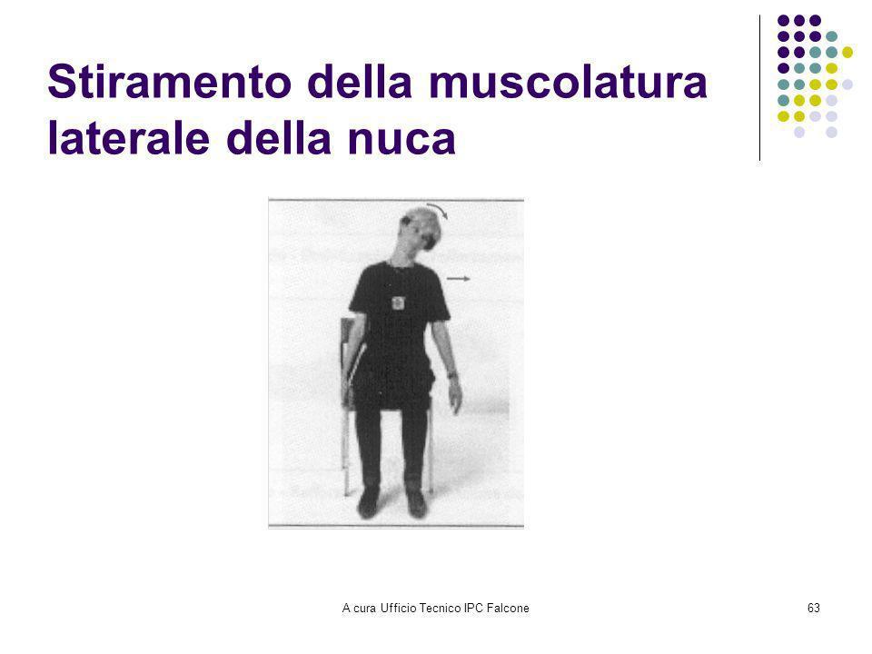 A cura Ufficio Tecnico IPC Falcone63 Stiramento della muscolatura laterale della nuca