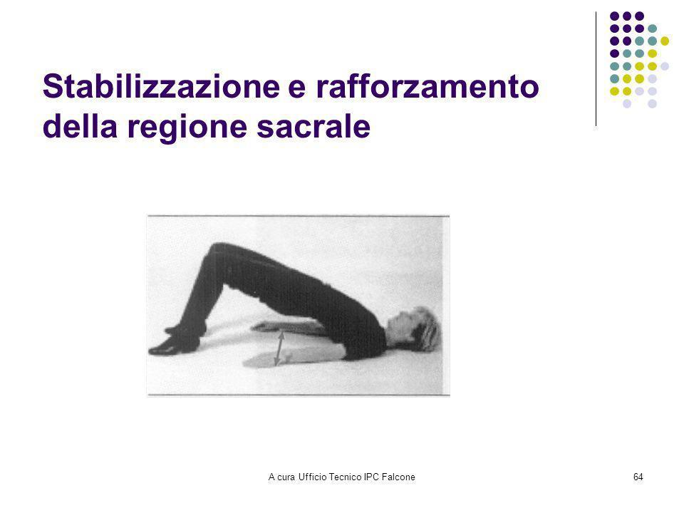 A cura Ufficio Tecnico IPC Falcone64 Stabilizzazione e rafforzamento della regione sacrale