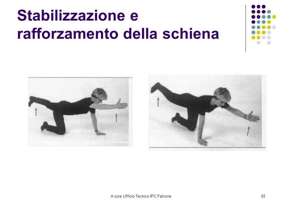 A cura Ufficio Tecnico IPC Falcone65 Stabilizzazione e rafforzamento della schiena