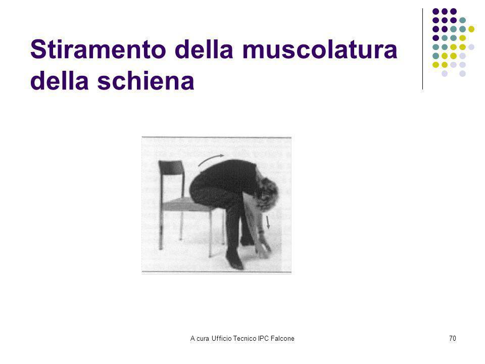 A cura Ufficio Tecnico IPC Falcone70 Stiramento della muscolatura della schiena
