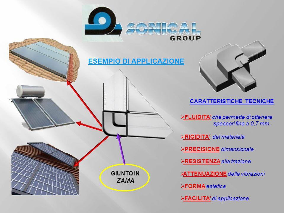 ESEMPIO DI APPLICAZIONE: Bloccaggio ondulati in lamiera o PVC di qualsiasi forma Staffe di fissaggio per coperture.