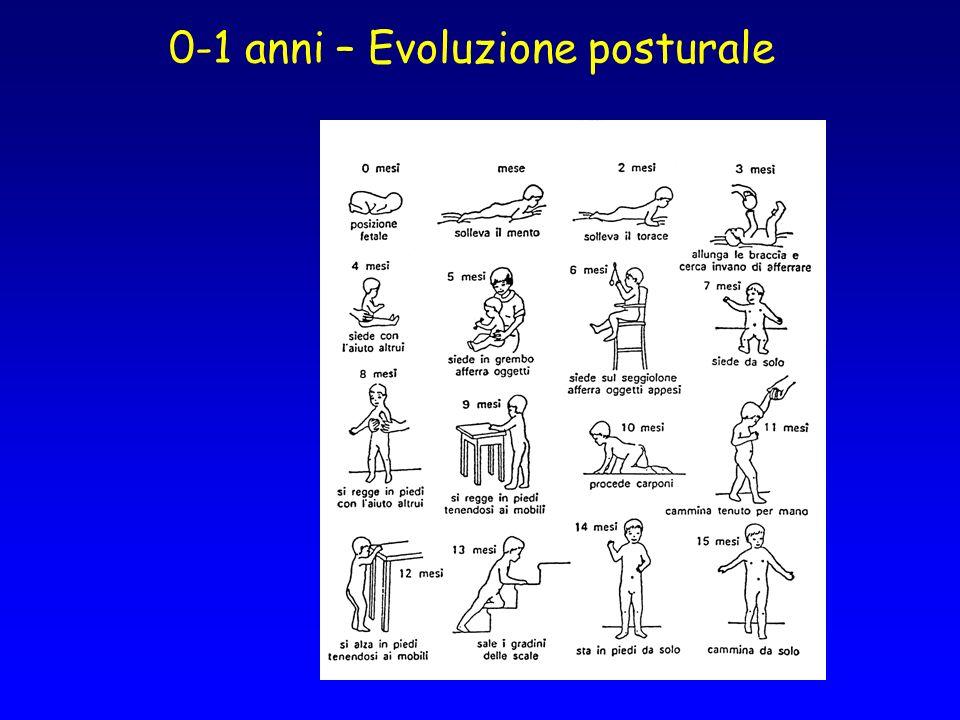 0-1 anni – Evoluzione posturale