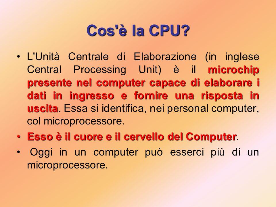 Cos è la CPU.
