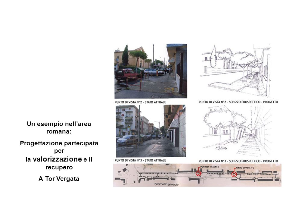 Un esempio nellarea romana: Progettazione partecipata per la valorizzazione e il recupero A Tor Vergata