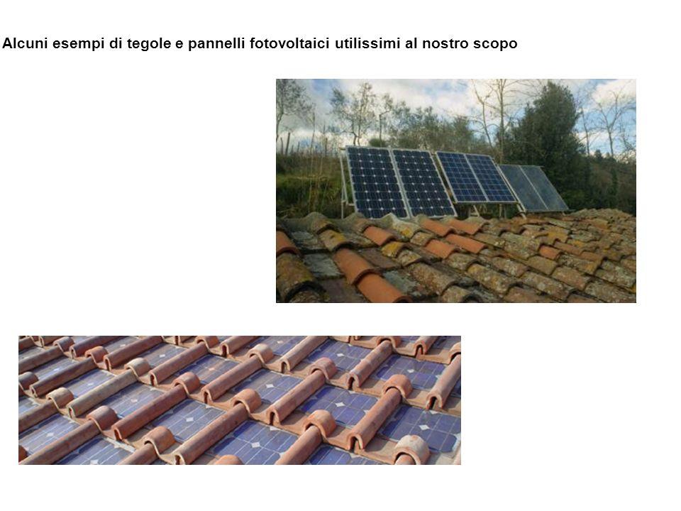 Alcuni esempi di tegole e pannelli fotovoltaici utilissimi al nostro scopo