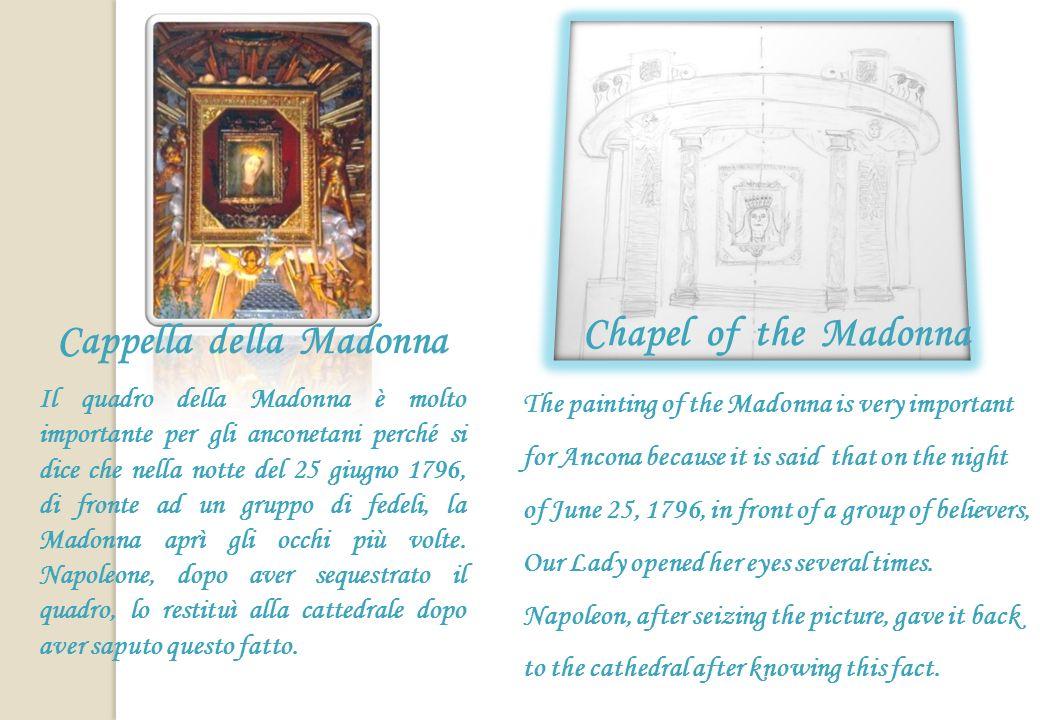 Plutei Sono divisi in due gruppi: quelli a destra rappresentano animali, quelli a sinistra sette figure di santi, con San Ciriaco che porta nella mano sinistra il pastorale e con la mano destra benedice.