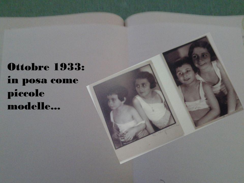 Ottobre 1933: in posa come piccole modelle...