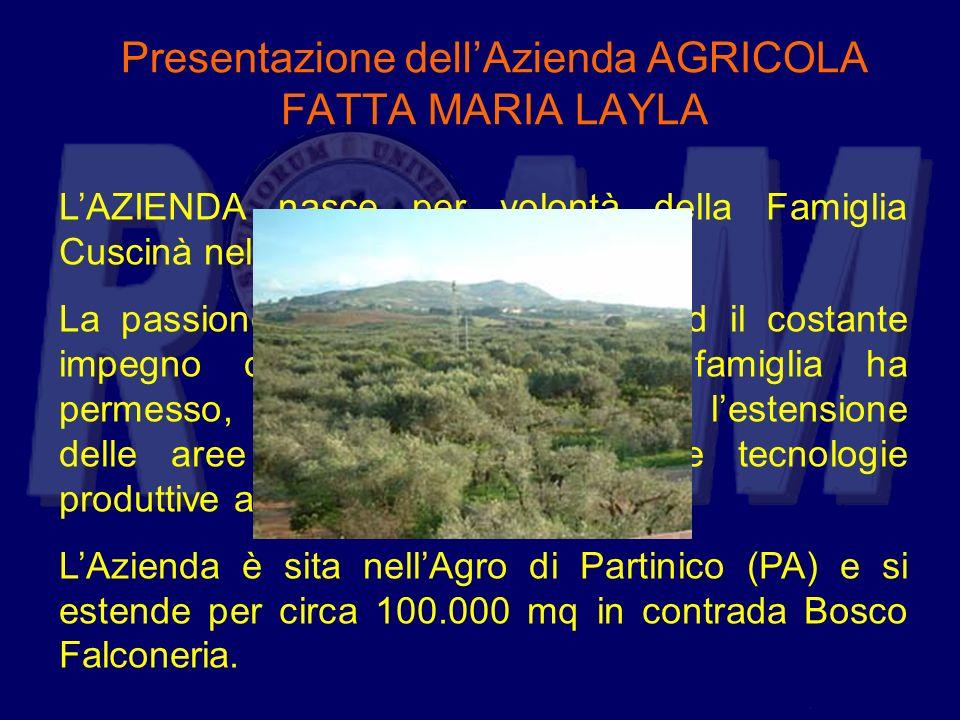 Presentazione dellAzienda AGRICOLA FATTA MARIA LAYLA LAZIENDA nasce per volontà della Famiglia Cuscinà nel 1971. La passione per lattività agricola ed