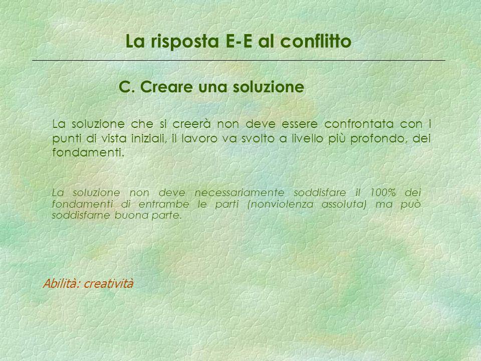 La risposta E-E al conflitto C.